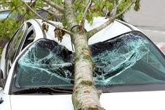Skadad bil Fotografering för Bildbyråer