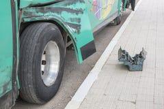 Skadad buss i Marocko Arkivbild