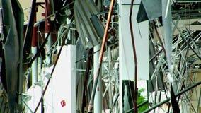 Skadad byggnad arkivfilmer