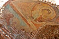Skadad freskomålning av John The Baptist Fotografering för Bildbyråer