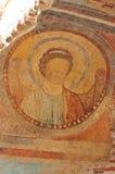 Skadad freskomålning av John The Baptist Royaltyfri Bild