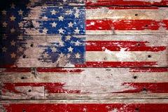 Skadad grungy USA flagga Royaltyfri Foto
