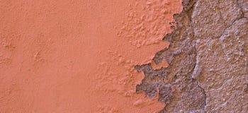 Skadad målad textur för bakgrund för baner för vägg för apelsinbrunt gammal Royaltyfri Fotografi