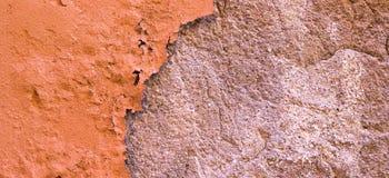 Skadad målad textur för bakgrund för baner för vägg för apelsinbrunt gammal Arkivfoton