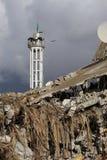 Skadad moské för krig i Shejayia, Gaza stad i Gaza arkivfoton