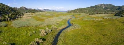 skadar湖全景在黑山 免版税库存照片