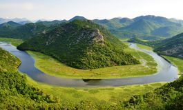 Skadar湖国家公园-黑山 库存照片