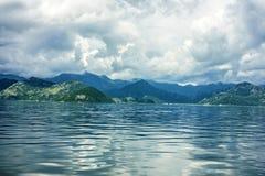 Skadar湖晚上风景 库存照片