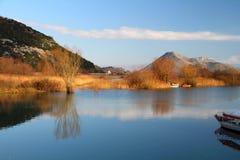 skadar的湖 图库摄影