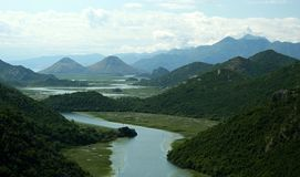 Skadar lake. Beautiful view of Skadar Lake, Montenegro, Europe stock photo