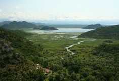 skadar lake Royaltyfria Foton