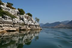 Skadar lake. Landscape from Skadar lake (Montenegro Stock Photo