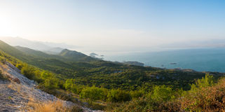 Skadar Lake on the border between Albania and Montenegro Stock Image