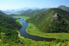 Skadar lake national park stock image