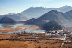 Skadar Lake and Virpazar in Montenegro Royalty Free Stock Photos