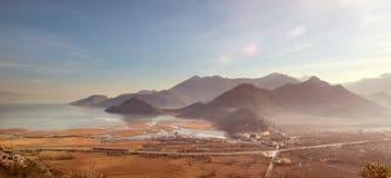 Skadar Lake and Virpazar in Montenegro Royalty Free Stock Image