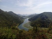 Skadar湖Montnegro 库存图片