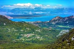 Skadar region för sjö, Podgorica, Montenegro fotografering för bildbyråer