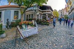 Skadarlija, Βοημίας θέση Βελιγραδι'ου, Σερβία Στοκ φωτογραφία με δικαίωμα ελεύθερης χρήσης