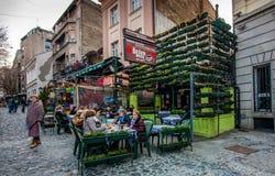 Skadarlija dans Beldgrade Photographie stock libre de droits