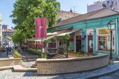 Skadarlija gata i Belgrade fotografering för bildbyråer