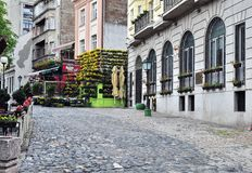 Skadarska pedestrian street in Belgrade, Serbia Royalty Free Stock Image