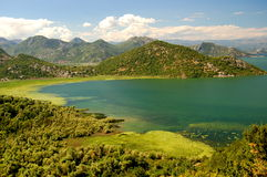 Gorgeous picturesque scene of Lake Skadar in Monte Stock Photography