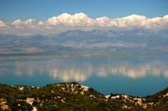 Gorgeous picturesque scene of Lake Skadar in Monte Stock Image