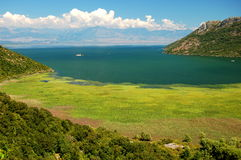 Gorgeous picturesque scene of Lake Skadar in Monte Royalty Free Stock Photography