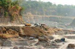 Skadat miljön i Mojokerto, Indonesien Arkivbilder