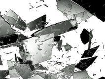 Skadat och splittrat exponeringsglas på vit Royaltyfri Foto