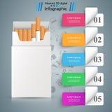 Skadlig cigarett, huggorm, rök, affärsinfographics vektor illustrationer