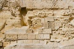 skadlig gammal vägg för detalj royaltyfri bild