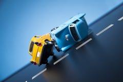 skadlig trafik för olycksbil krasch Royaltyfri Bild