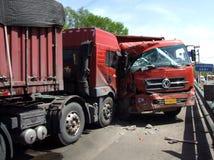 skadlig trafik för olycksbil krasch Royaltyfria Bilder