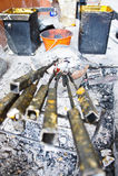Składniki rzeźbili świeczki Obraz Stock