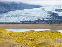 Skaftafell冰川 库存照片