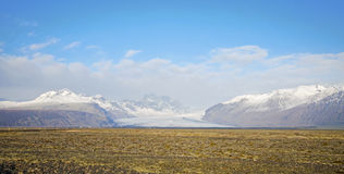 Skaftafell冰川Icleand 免版税库存图片