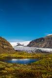 Skaftafell glacer jezioro Obraz Royalty Free
