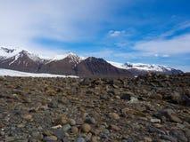 Skaftafell glaciär i Island Fotografering för Bildbyråer