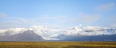 Skaftafell glaciär Icleand Royaltyfria Foton