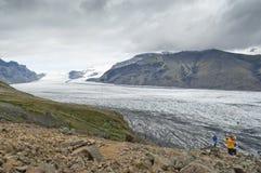 Skaftafell Glacier (Iceland) Royalty Free Stock Images