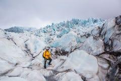 Glacier in Skaftafell, Iceland. Stock Images