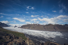 Skaftafell glacier in south Iceland Royalty Free Stock Images