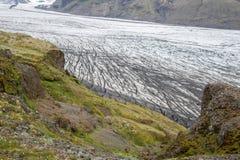 Skaftafell glacier, Vatnajokull national park, Iceland Royalty Free Stock Photos