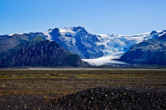 Skaftafell National Park, glacier Royalty Free Stock Photo
