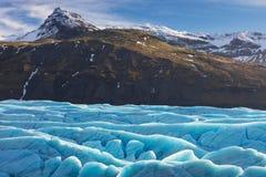 Skaftafellgletsjer, het Nationale Park van Vatnajokull in IJsland stock foto