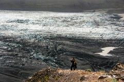 Skaftafelljökull冰川在冰岛 库存图片