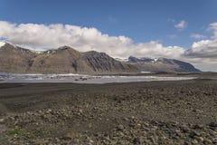 Skaftafellsjökull盐水湖 免版税图库摄影