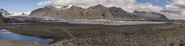 Skaftafellsjökull panoramisch Stockfotos